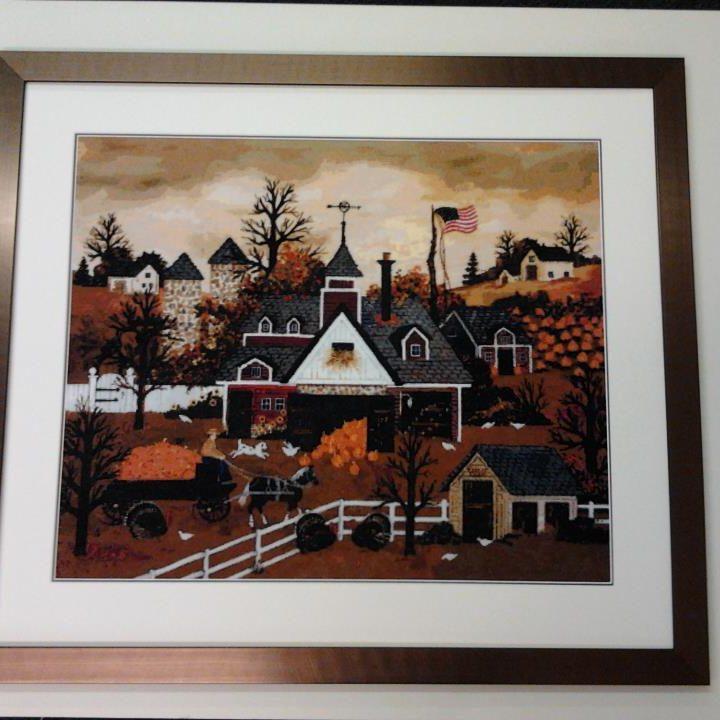 Tapestry, cross stitch framing-4-min